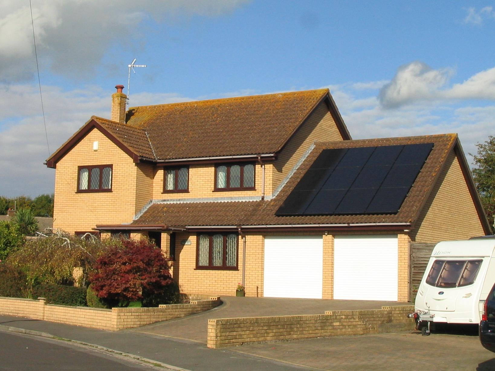 black solar panels