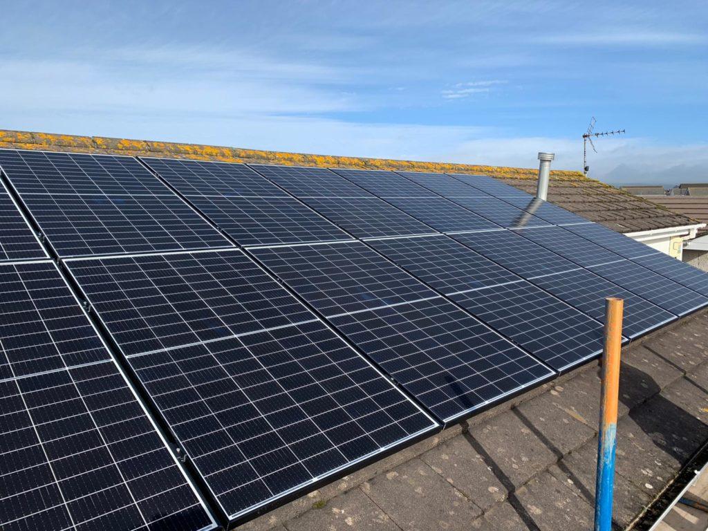 forever green energy solar panel installation